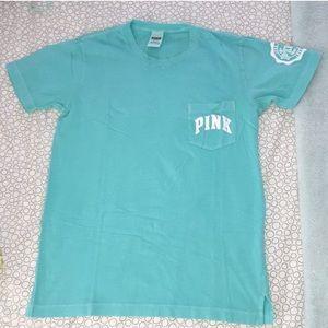 Pink Victoria's Secret Campus Tee